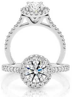 Halo Diamond Rings Collection at Stephens Jewellers