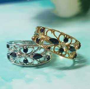 Filigree Sapphire Rings at Stephens Jewellers